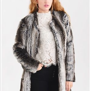 Matty M Faux Fur Topper Size M